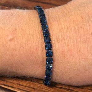 Sterling bracelet with blue stones